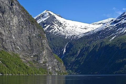 Gjerklandsegga, Geiranger Fjord, More og Romsdal, Norway, Scandinavia, Northern Europe
