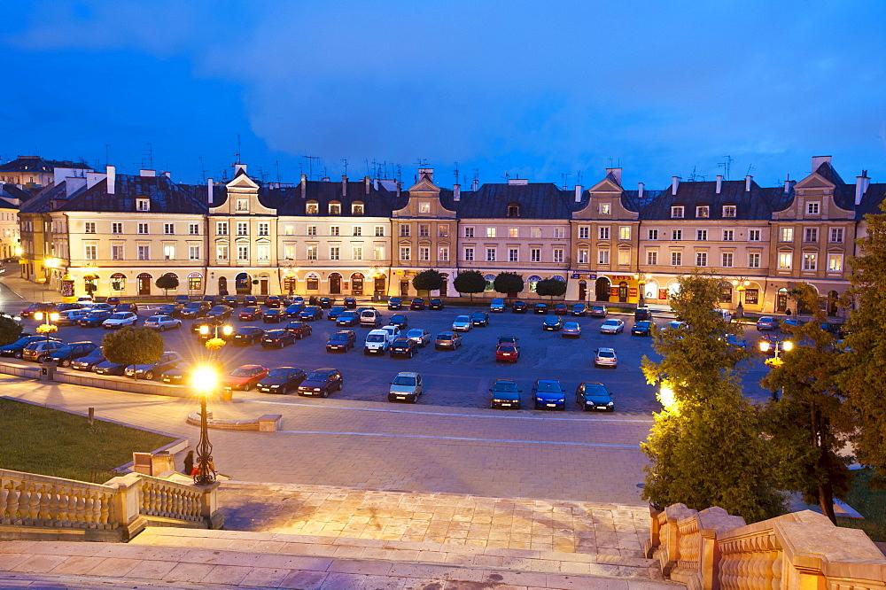 Ensemble Plac Zamkowy square, Lublin, Lublin province, Poland