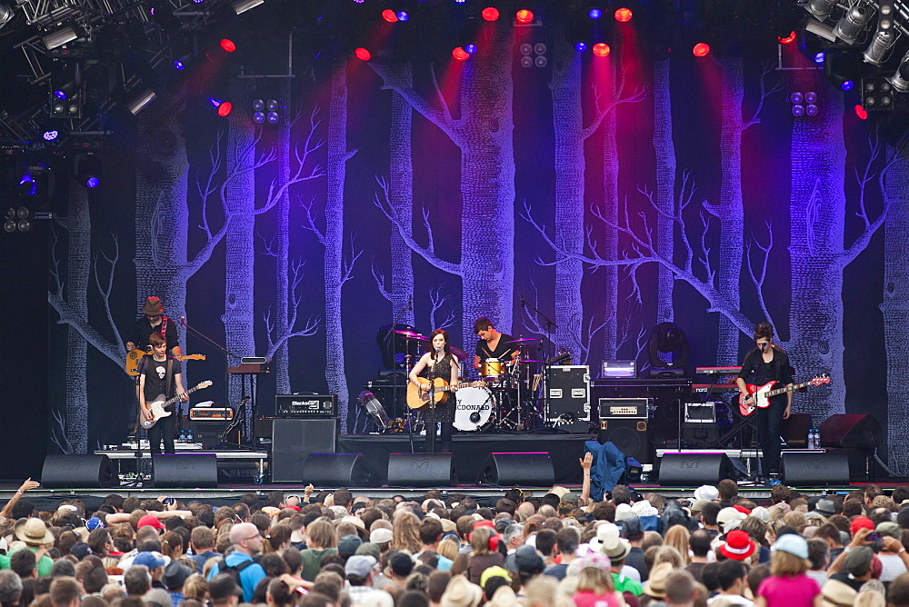 Scottish singer-songwriter Amy Macdonald performing live at the Heitere Open Air in Zofingen, Switzerland, Europe