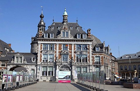 The trade exchange from 1932, Neo-Renaissance, now congress centre, Namur, Walloon Region or Wallonia, Belgium, Europe