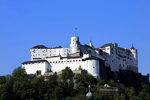 Hohensalzburg Castle, city of Salzburg, Salzburger Land, Austria, Europe