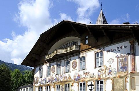 Birthplace of Ludwig Thoma in Oberammergau, Upper Bavaria, Bavaria, Germany, Europe