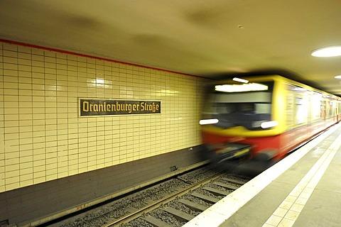 S-Bahn, Oranienburgerstrasse station, Germany, Europe