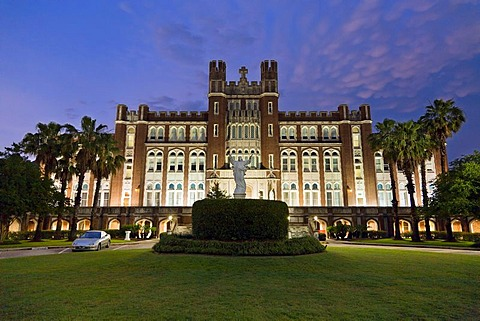 Loyola University Marquette Hall at dusk, Saint Charles Avenue, New Orleans, Louisiana, USA