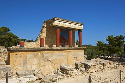 Archaeological excavations of the Minoan palace at Knossos, Heraklion, Crete, Greece, Europe