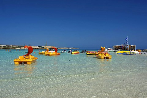 Water sports on Nissi Beach, Ayia Napa, Southern Cyprus, Cyprus