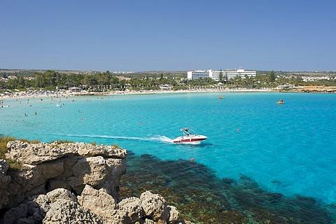 Water sports on Nissi Beach, Ayia Napa, Southern Cyprus, Cyprus