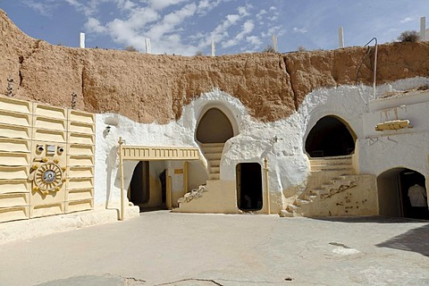 Cave-dwelling, Hotel Sidi Driss, Matmata, southern Tunisia, Tunisia, Maghreb, North Africa, Africa