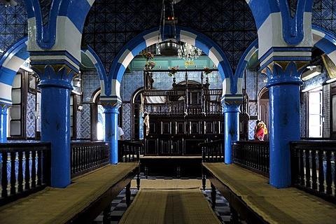La Ghriba Synagogue, Djerba, Tunisia, Maghreb, North Africa, Africa