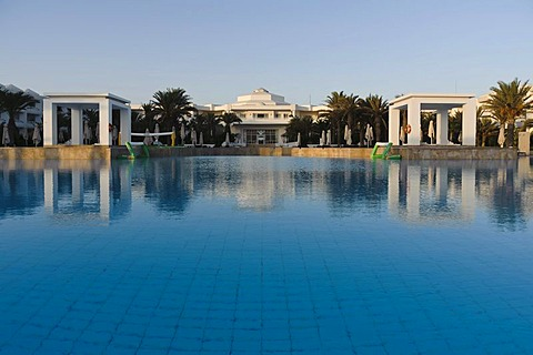 Swimming pool at the Radisson Blu hotel resort, Djerba, Tunisia, Maghreb, North Africa, Africa