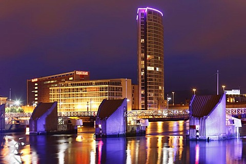 Obel Tower, Lagan Weir, Belfast, Northern Ireland, Ireland, Great Britain, Europe, PublicGround