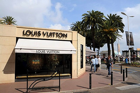 Louis Vuitton store in Cannes, France, Europe