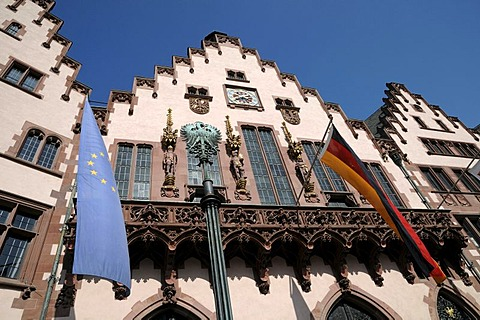 Roemer city hall, Roemerberg square, Frankfurt am Main, Hesse, Germany, Europe