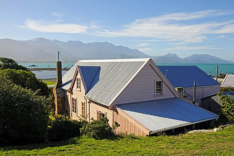 Museum in the historic Fyffe House, whalers' house from 1842, New Zealand Historic Places Trust, Kaikoura Peninsula, South Island, New Zealand