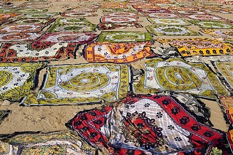 Printed and dyed fabrics, Sanganer dyeing centre near Jaipur, Rajasthan, India, Asia