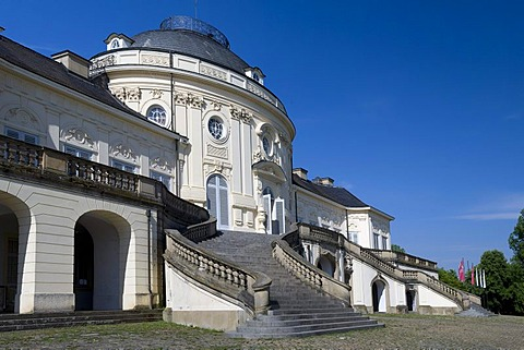 Schloss Solitude or Castle Solitude, Stuttgart-West, Stuttgart, Swabia, Baden-Wuerttemberg, Germany, Europe