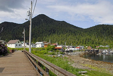 First Nation village of the Gitga'ata people, Hartley Bay, British Columbia, Canada, North America
