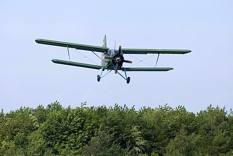 Antonov-2 biplane, celebration of the 100th anniversary of the airfield, in Lueneburg, Lower Saxony, Germany