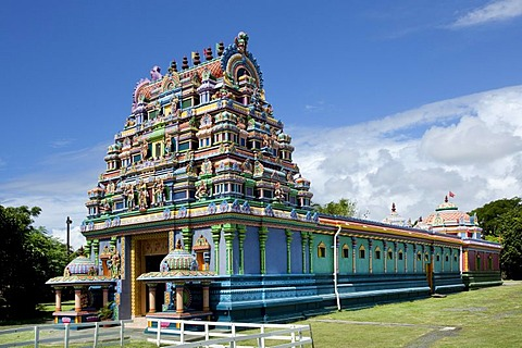 Tamil temple Le Colosse, Hindu temple, near Saint-Andre, Reunion island, Indian Ocean
