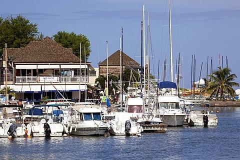 Marina of Saint-Gilles-les-Bains, La Reunion island, Indian Ocean