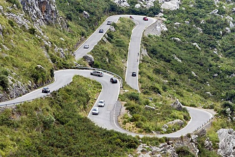Road to Sa Calobra, Majorca island, Balearic Islands, Spain, Europe