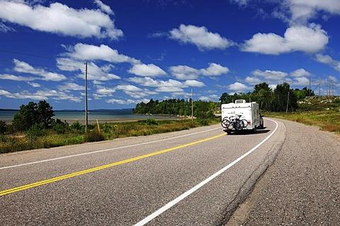 Road along Lake Superior, Ontario, Canada