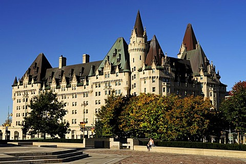 The Hotel Chateau Laurier in downtown Ottawa, Ontario, Canada, North America