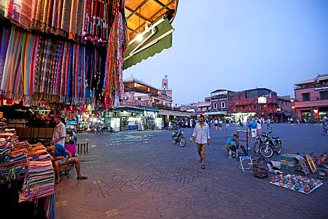 Jemaa el-Fnaa square, UNESCO World Heritage Site, and souks or markets, Marrakech, Morocco, North Africa, Africa