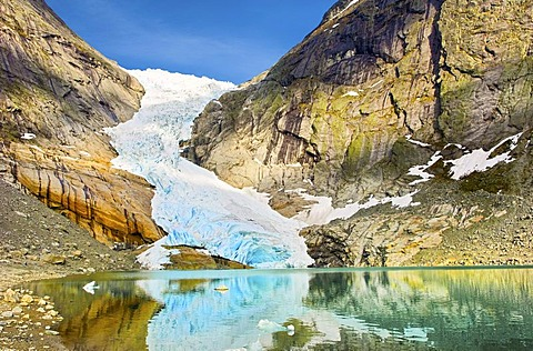 Briksdalsbreen, Briksdal glacier, Norway, Europe