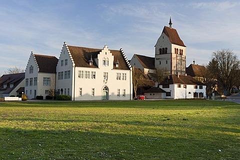 Muenster St. Maria and Markus minster, Kloster Reichenau monastery, Reichenau island, UNESCO World Heritage Site, Landkreis Konstanz county, Baden-Wuerttemberg, Germany, Europe
