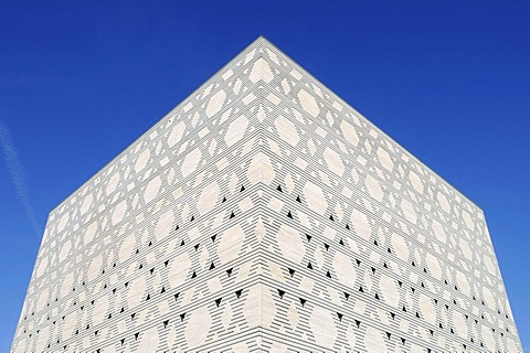 Stars of David, facade of the New Synagogue, Bochum, Ruhrgebiet area, North Rhine-Westphalia, Germany, Europe