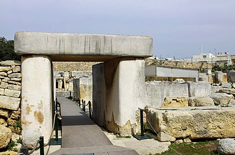 Neolithic, megalithic Tarxien Temples, UNESCO World Heritage Site, Paola, Malta, Europe