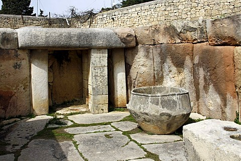 Neolithic megalithic temple, Tarxien Temples, UNESCO World Heritage Site, Paola, Malta, Europe