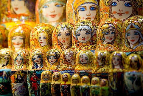 Matryoshka dolls on sale in Prague, Czech Republic, Europe
