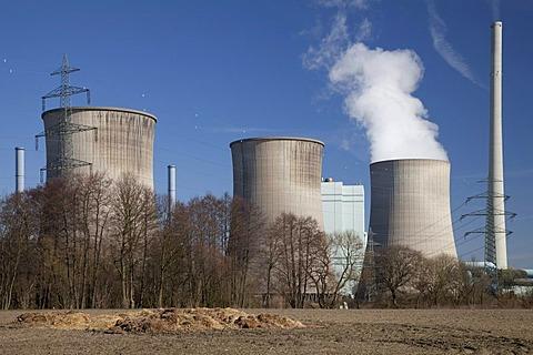Combined cycle power plant, coal and natural gas, Gersteinwerk plant, RWE Power AG company, Werne-Stockum, Ruhrgebiet area, North Rhine-Westphalia, Germany, Europe