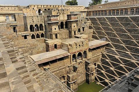 Chand Baori stepwell, Abhaneri, at Jaipur, Rajasthan, North India, India, South Asia, Asia
