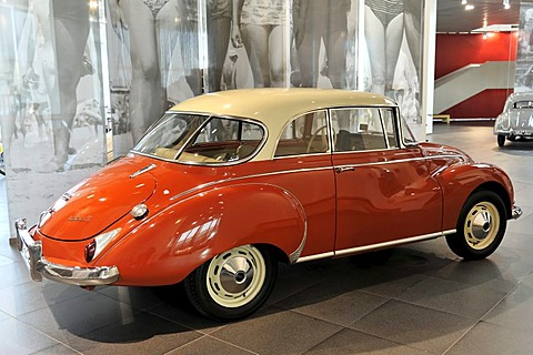 Auto Union 1000 S Coupe, 60 model built in 1961, museum mobile, Erlebniswelt Audi, Audi, Ingolstadt, Bavaria, Germany, Europe