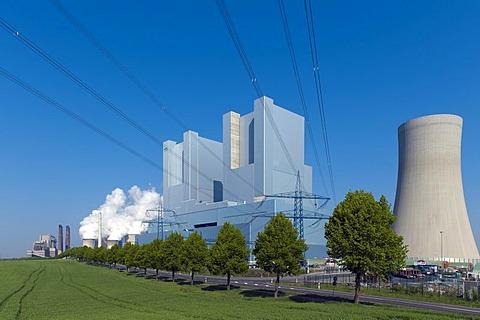 The new BOA-Kraftwerk Neurath II power plant near completion, Grevenbroich, North Rhine-Westphalia, Germany, Europe