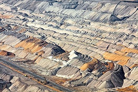 Tagebau Hambach open pit mine, North Rhine-Westphalia, Germany, Europe