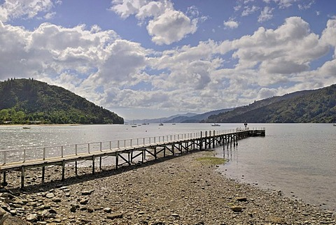 Tirimoana Jetty, Queen Charlotte Sound, Marlborough Sounds, South Island, New Zealand