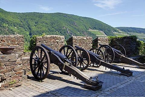Burg Reichenstein castle, Trechtingshausen, UNESCO World Heritage Site Upper Middle Rhine Valley, Rhineland-Palatinate, Germany, Europe