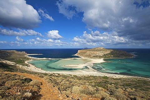 Balos Beach, Gramvousa Peninsula, Crete, Greece, Europe