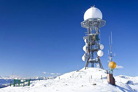 Meteorological station on Rittnerhorn mountain above Ritten, Bolzano area, province of Bolzano-Bozen, Italy, Europe