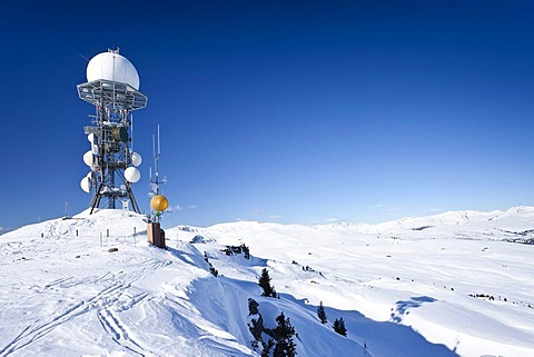Weather station on Mt Rittnerhorn above Ritten, Renon, Bolzano district, South Tyrol, Italy, Europe