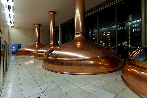 Copper vats, Binding brewery, Frankfurt, Hesse, Germany, Europe