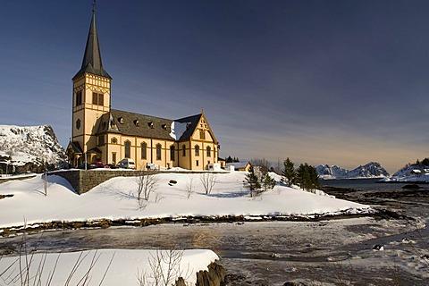 Church of SvolvÊr or Svolvaer, Lofoten Islands, Northern Norway, Norway, Europe