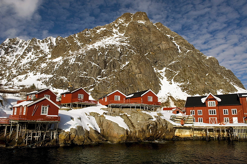 Rorbuer, traditional wooden houses, A i Lofoten or A, Lofoten Islands, Northern Norway, Norway, Europe