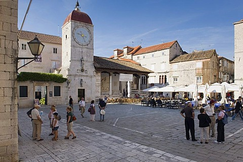 Romanesque Church of St. John the Baptist, cathedral square, old town, UNESCO World Heritage Site, Trogir, Dalmatia, Croatia, Europe