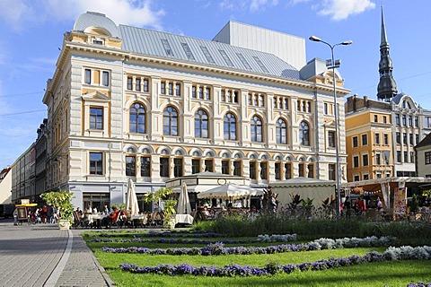 Russian theater, Livu Square, Riga, historic centre, Latvia, Baltic States, Northern Europe