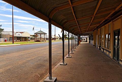 Shops in Austin street, Cue, Western Australia, Australia